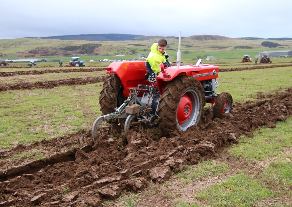 Youngest competitor Ben Bannatyne won the prize for best maintained tractor.