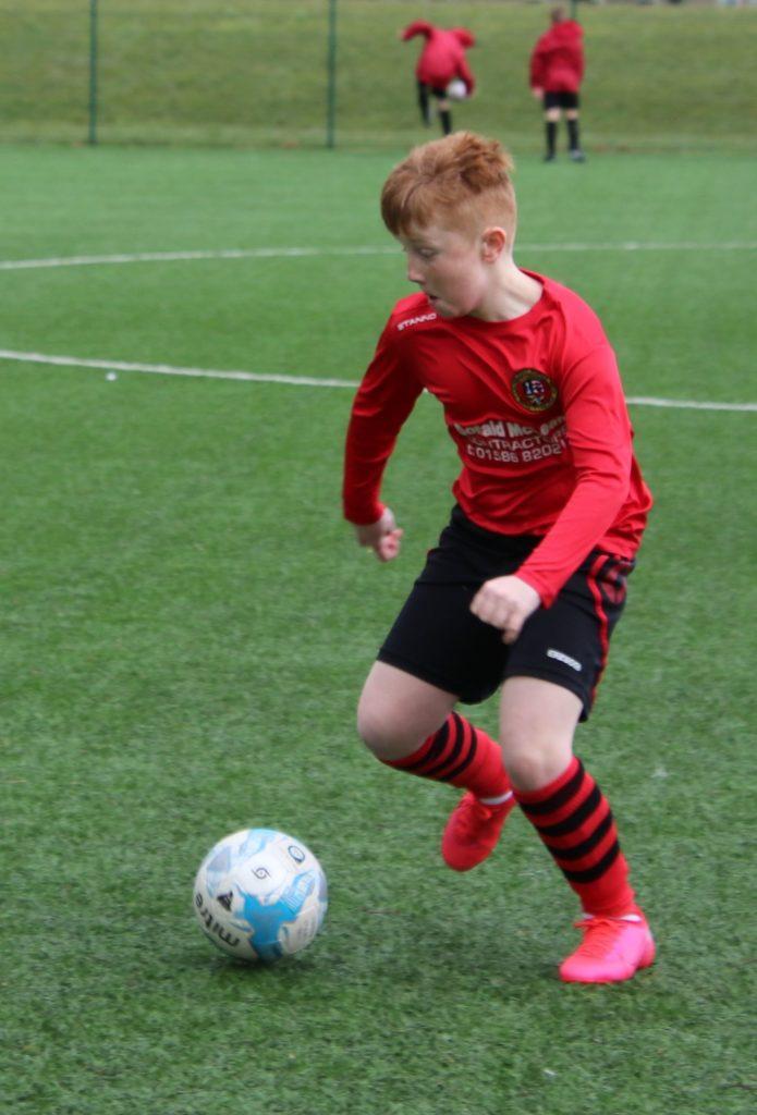 Daniel McEachran in action on Sunday.