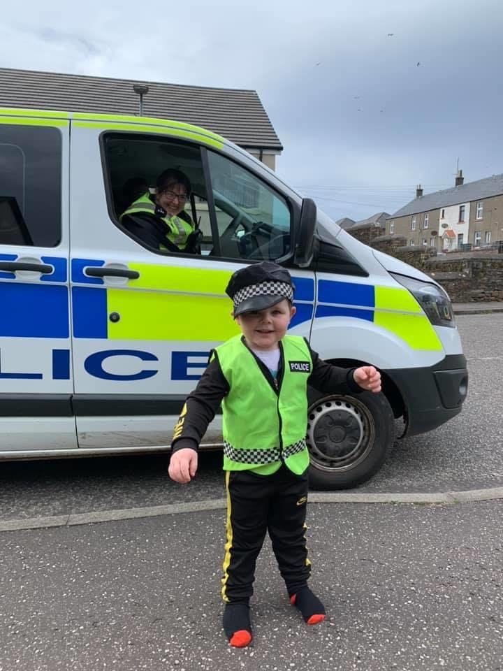Kian Green was visited by officers on his birthday.