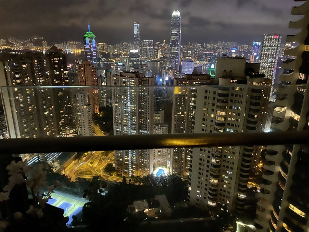 Catherine Hodge took this from her balcony in the Mid Levels, Hong Kong, looking towards Victoria Harbour. She said: 'I really enjoyed seeing the #coloursoflockdown vistas on social media, so I thought I'd share some Hong Kong colour.'