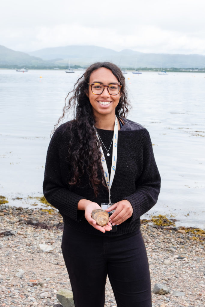 Aquaculture Master student Aaliyah Malla, a marine science graduate from SAMS UHI, has been conducting her dissertation with Dr Cowan on broodstock conditioning of native oysters.