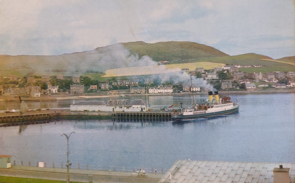 The description on this postcard simply reads: 'Campbeltown Harbour, from a colour photograph'.