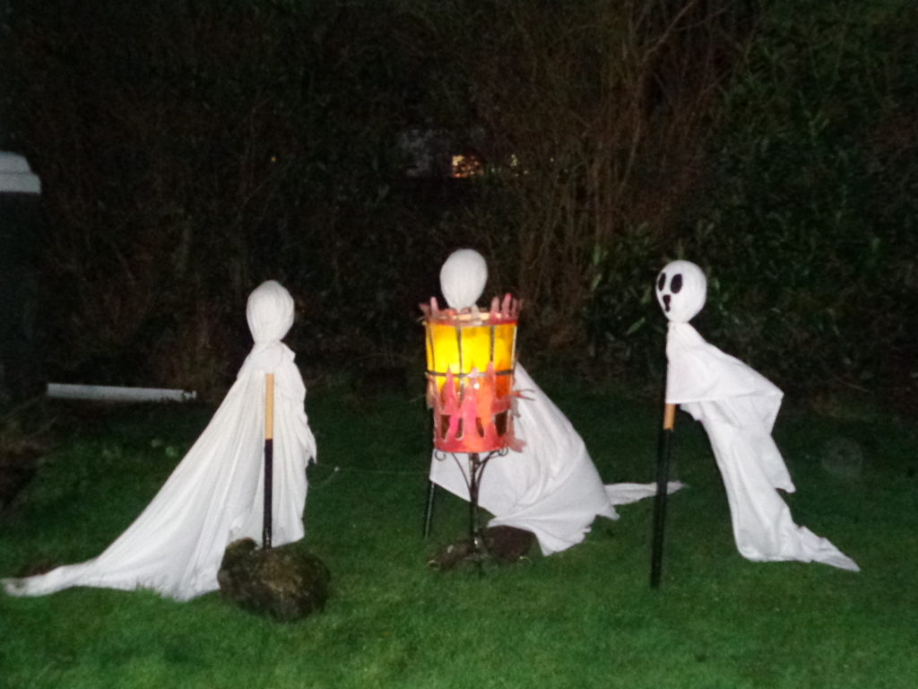 One of the ghoulish displays in Clachan.