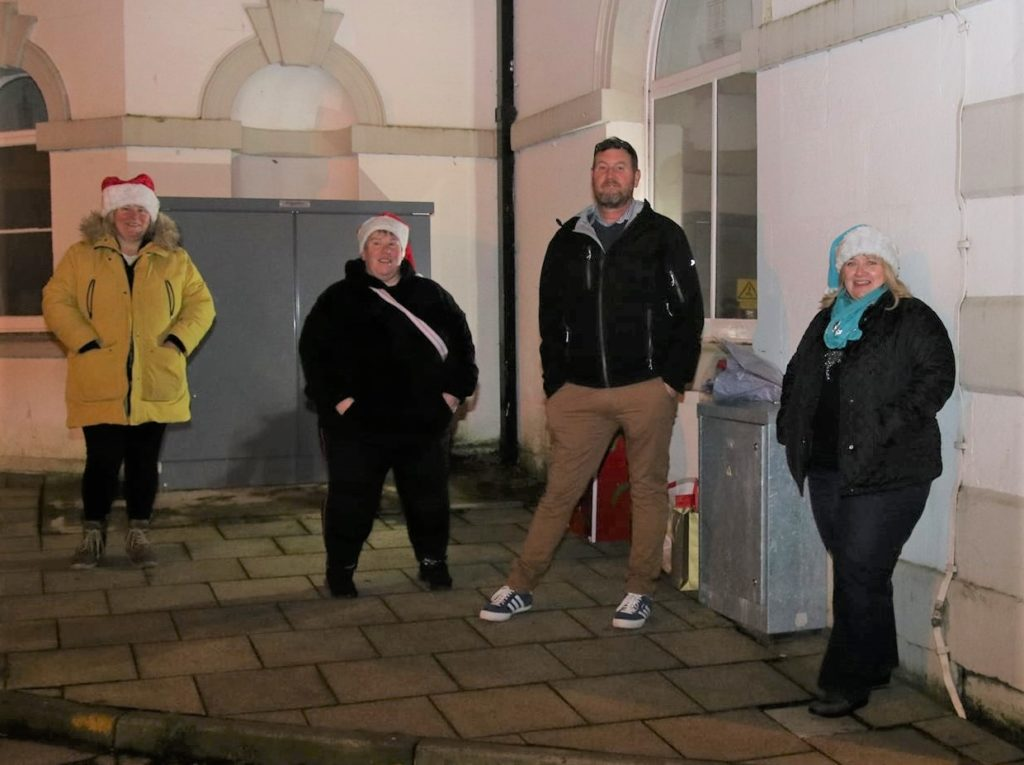 Special guest Helen Gilchrist, second left, with Campbeltown Christmas Lights committee members Mandy Robertson, Raymond Harvey and Kirsteen Graham.