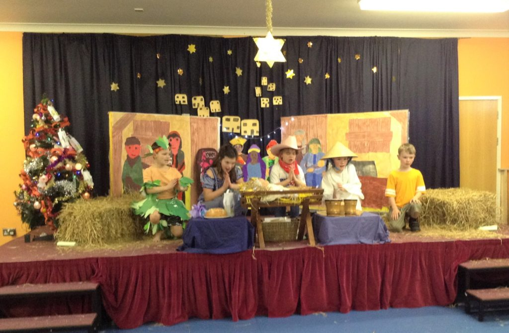 Southend Primary School's nativity took the children on a journey around the world.