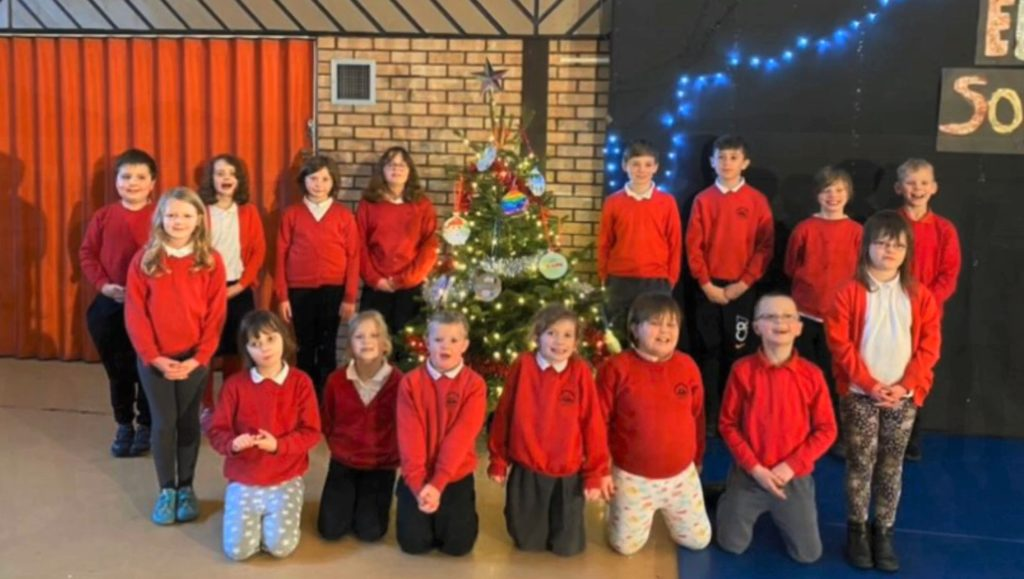 Pupils and staff at Carradale Primary School wished everyone a happy and peaceful Christmas before going off on holiday.