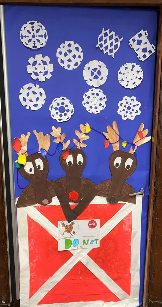 P6 pupils are Castlehill Primary School decorated their classroom door.