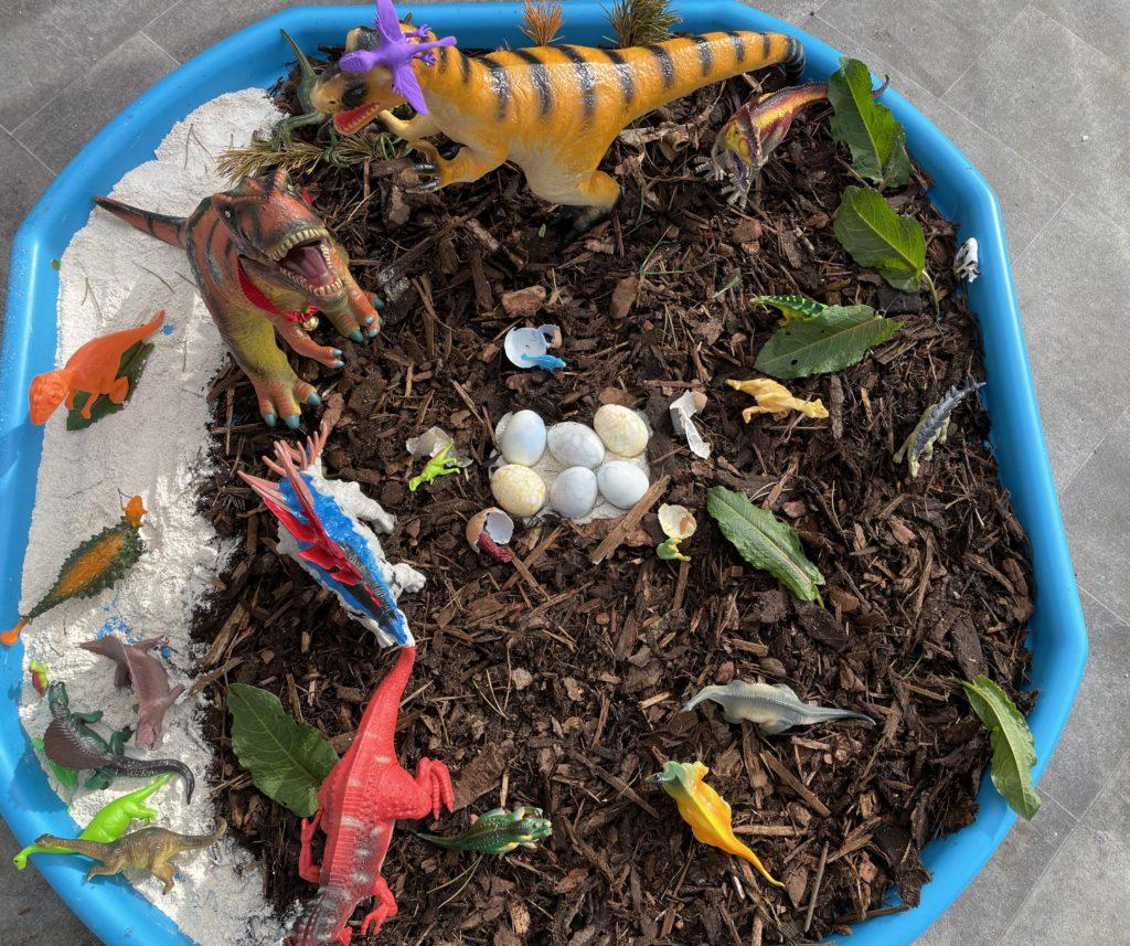 The nursery and P1 category winner: dinosaur eggs.