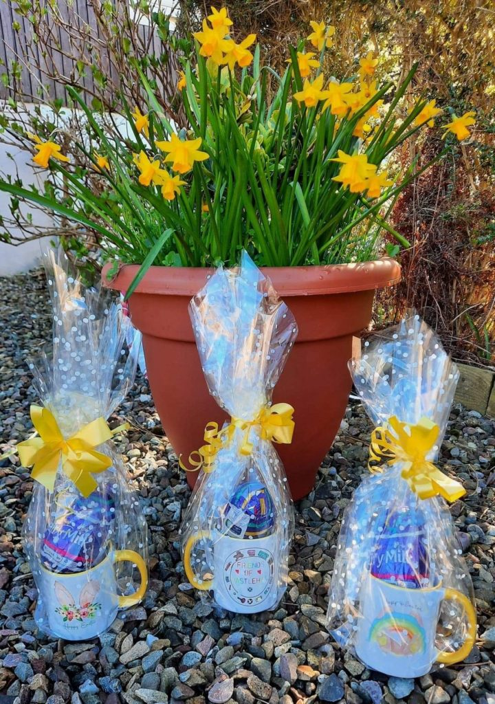 The children each received an Easter mug filled with treats.