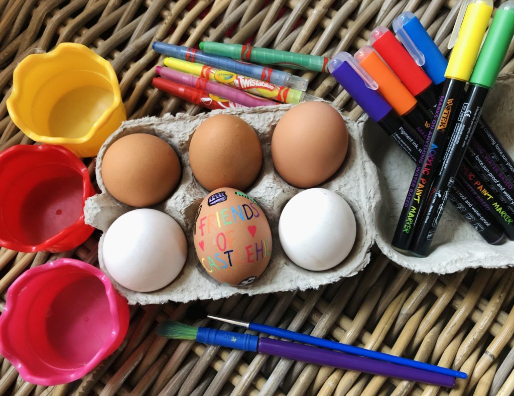 The Easter egg competition was run by Friends of Castlehill.