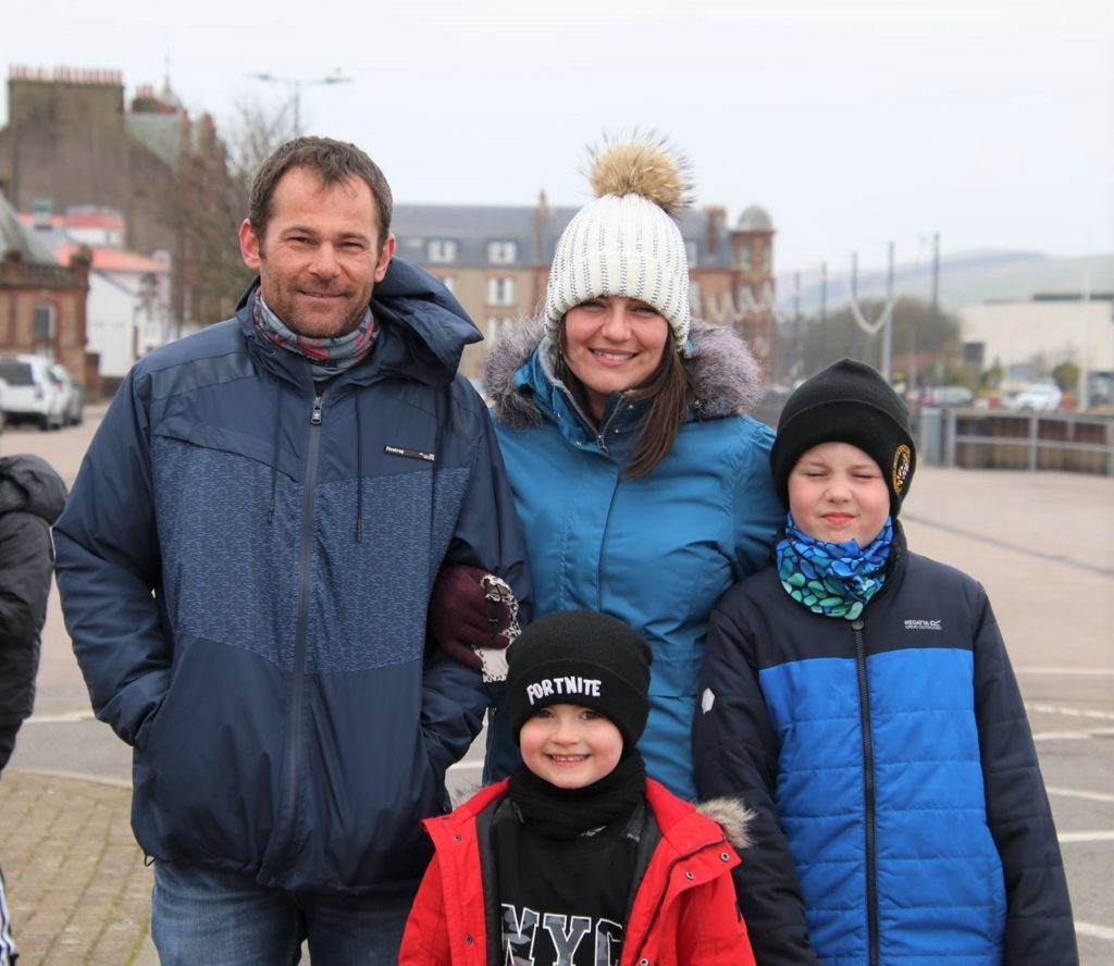 Stewart and Chelsea Ruthven with their sons Caiden and Innis. Photograph: Kenny Craig.