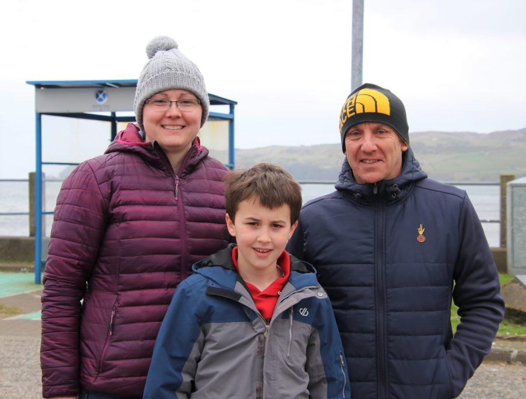 Fiona, Stuart and Kyle McQuaker. Photograph: Kenny Craig.