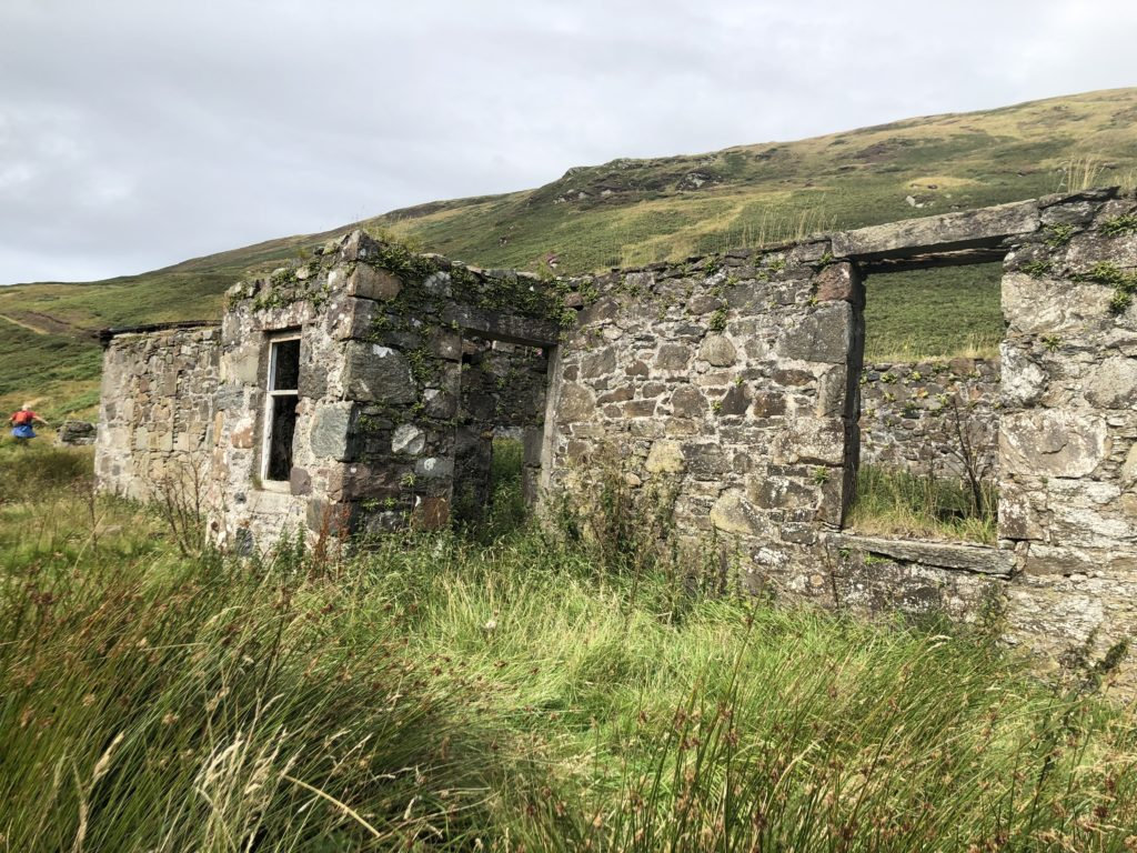 The society visits historic sites around Argyll, including the ruins of the shepherd's cottage at High Glenadale, Southend.