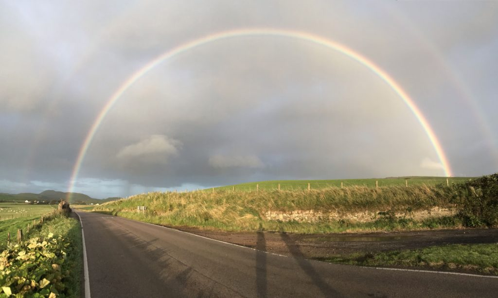 This shot of a rainbow by Iona Renton came second in the district final's senior section.