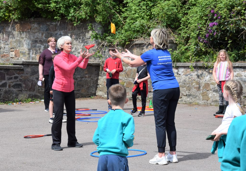 Laura Middleton joined Judy Murray throughout her sessions.