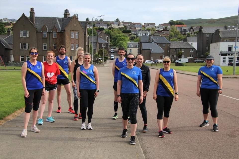 The members Campbeltown Running Club who set off on their runs together.