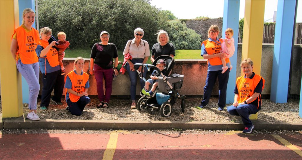 Current and retired midwives took part in the annual MOK walk.