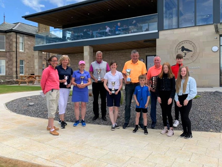 Machrihanish Golf Club championship winners and finalists 2021.