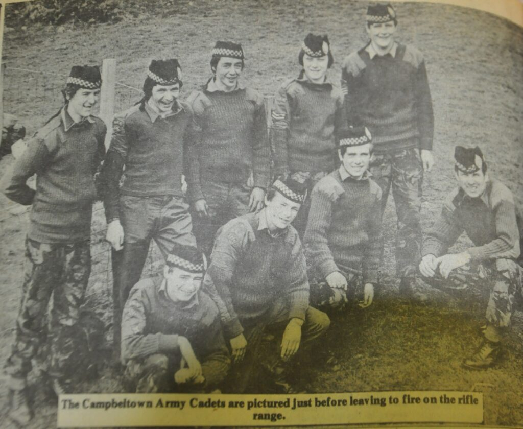 Campbeltown Army Cadets pictured shortly before a trip to a rifle range.