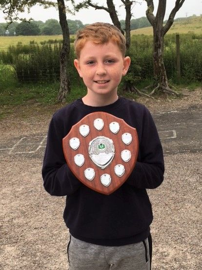 Craig Hurd was awarded the Rhunahaorine Shield for his positive attitude and leadership in outdoor learning.