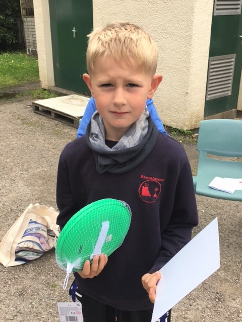 Kieran Hurd was awarded the school value's kindness award for always including everyone in playing.