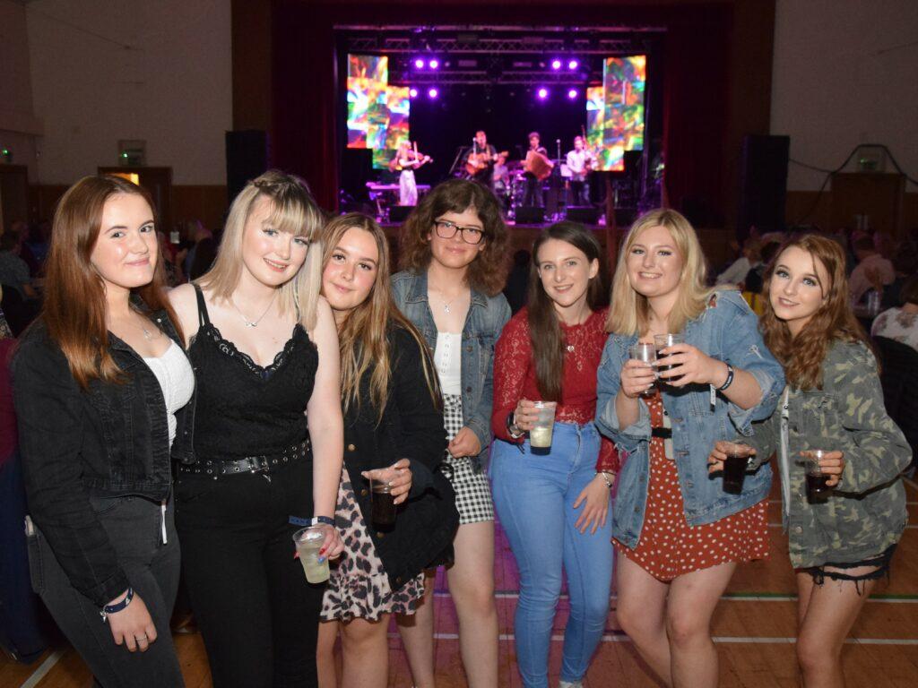 From left: Heather Millar, Jenny Souden, Leanna Campbell, Caryn Kerr, Jennifer Wylie, Krystal Allen and Sophie Durnan at Saturday night's West Coast Rocks Concert.