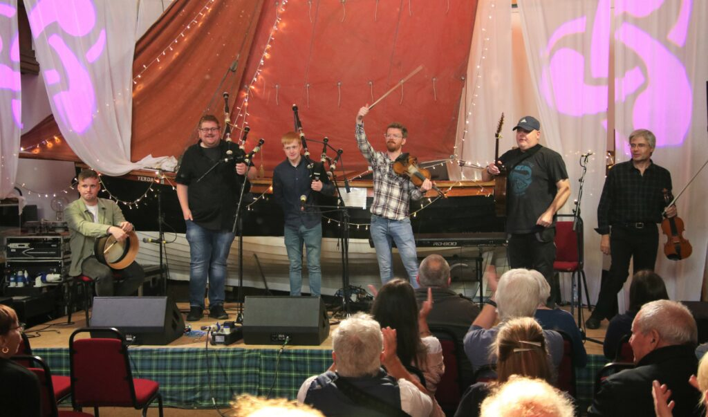 A round of applause for the talented local and visiting musicians at Sunday afternoon's Dalriada Connections Concert.