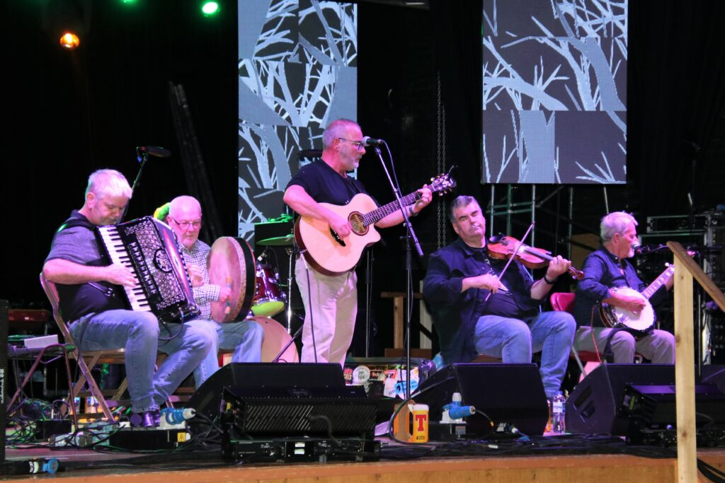 Campbeltown's very own Wee Toon Tellers on stage at Friday's Ceilidh Night.