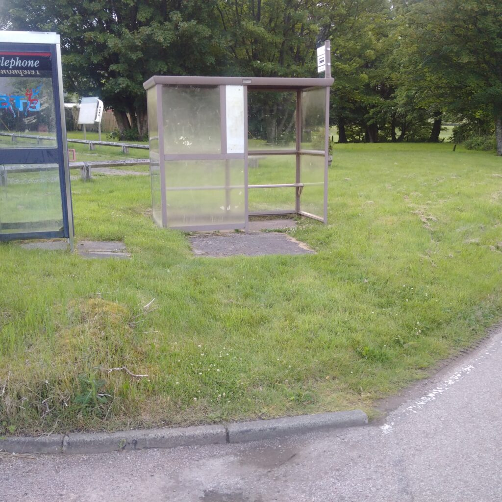 The bus stop before...