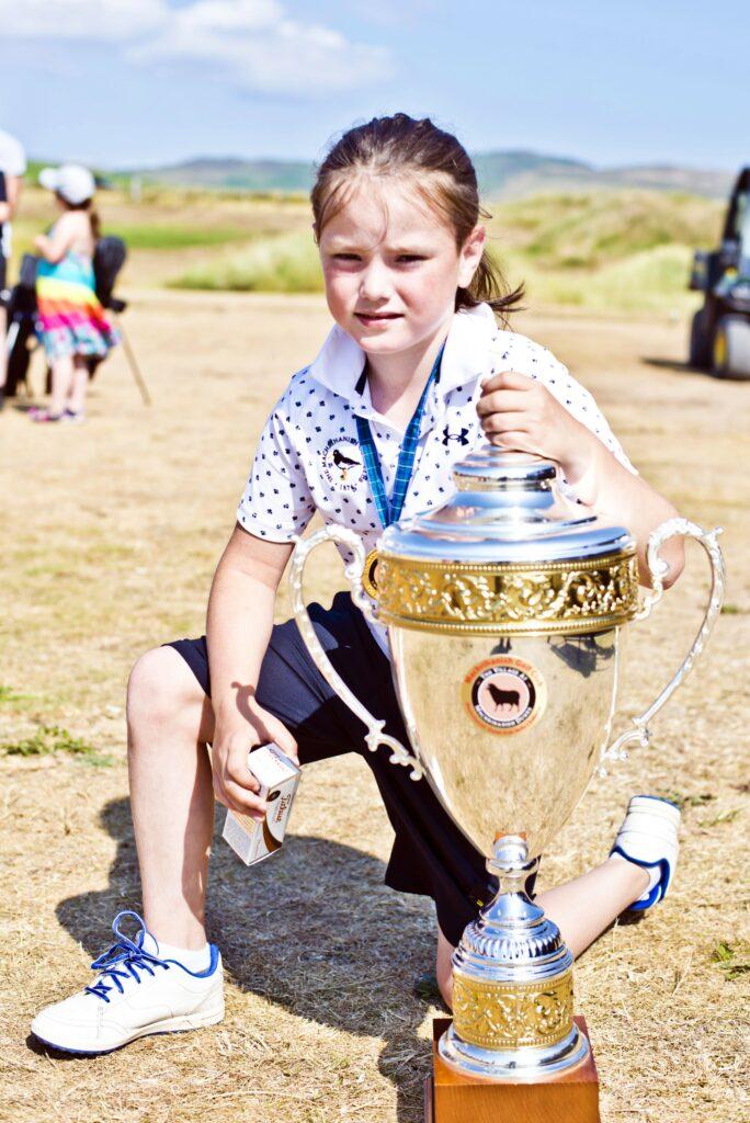 Blaze Mathieson, winner of the children's six to nine years section.