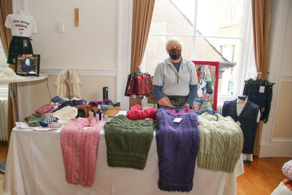 Anne Stewart sold a range of cosy knitwear.