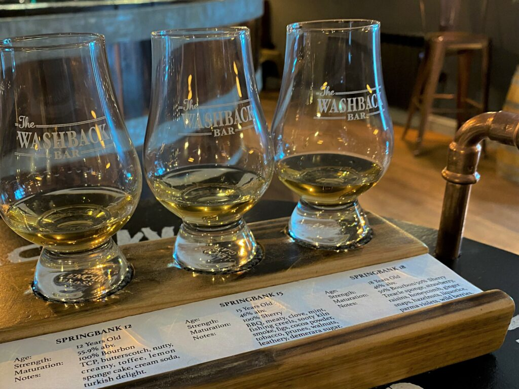 A choice of carefully selected tasting flights are on offer.