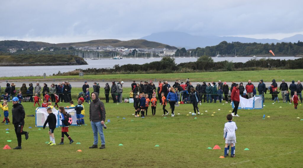 The pitches at North Connel.