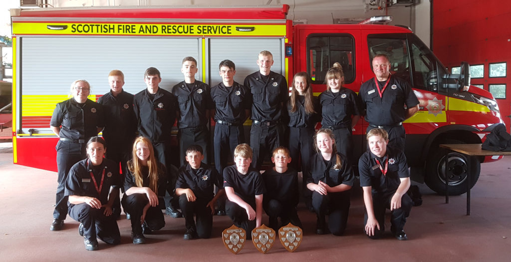 Fire cadets on fire at Scottish championships