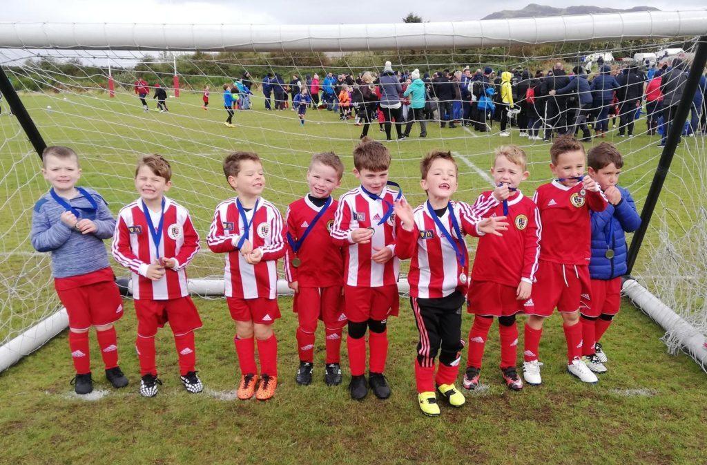 Five youth teams enjoy football festival fun