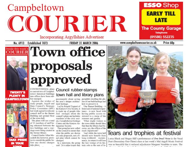 Campbeltown Courier PDF Archive 2006