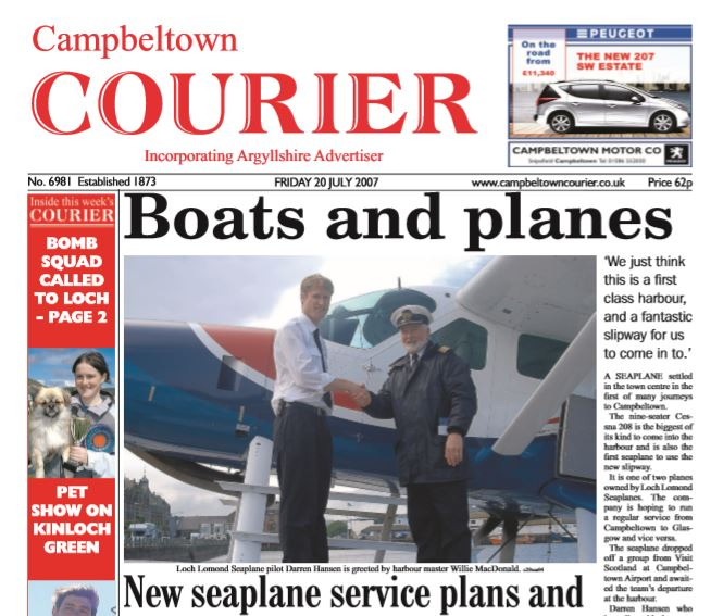 Campbeltown Courier PDF Archive 2007