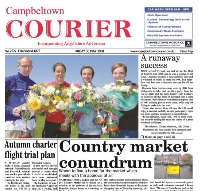 Campbeltown Courier PDF Archive 2008