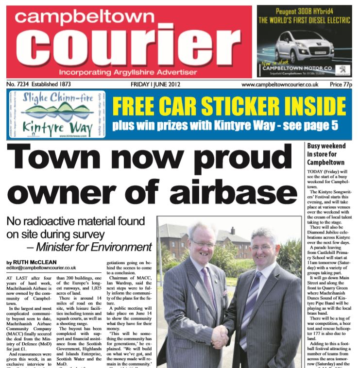 Campbeltown Courier PDF Archive 2012
