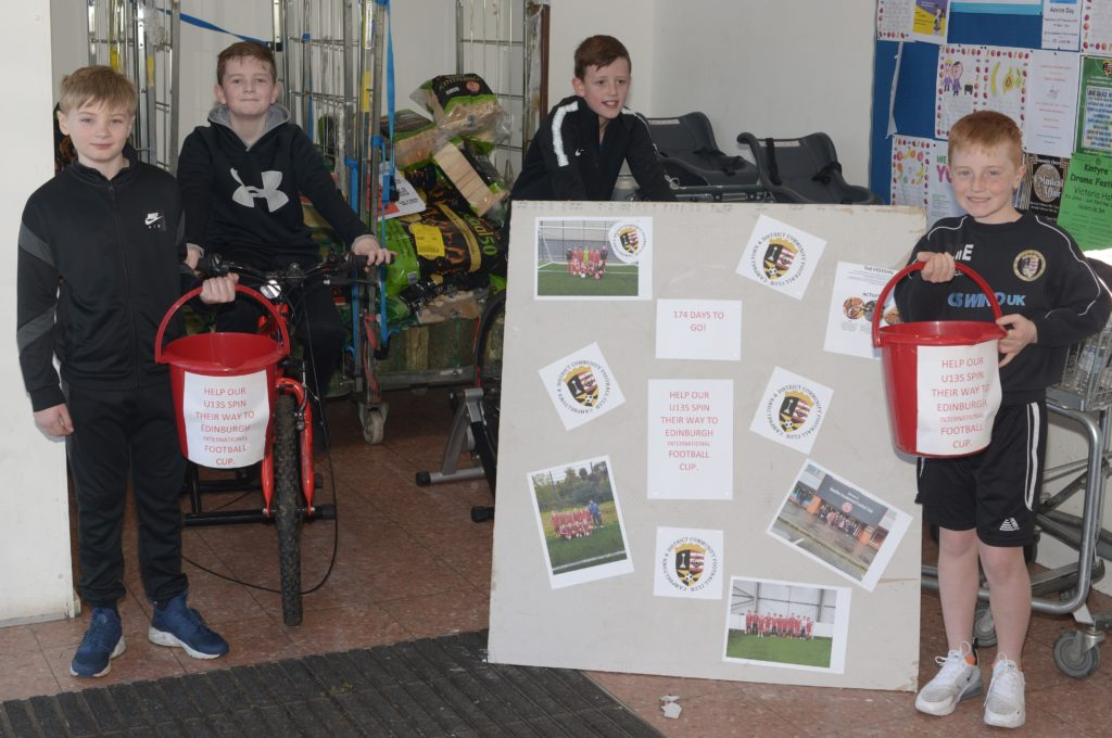 Young footballers saddled up for funds