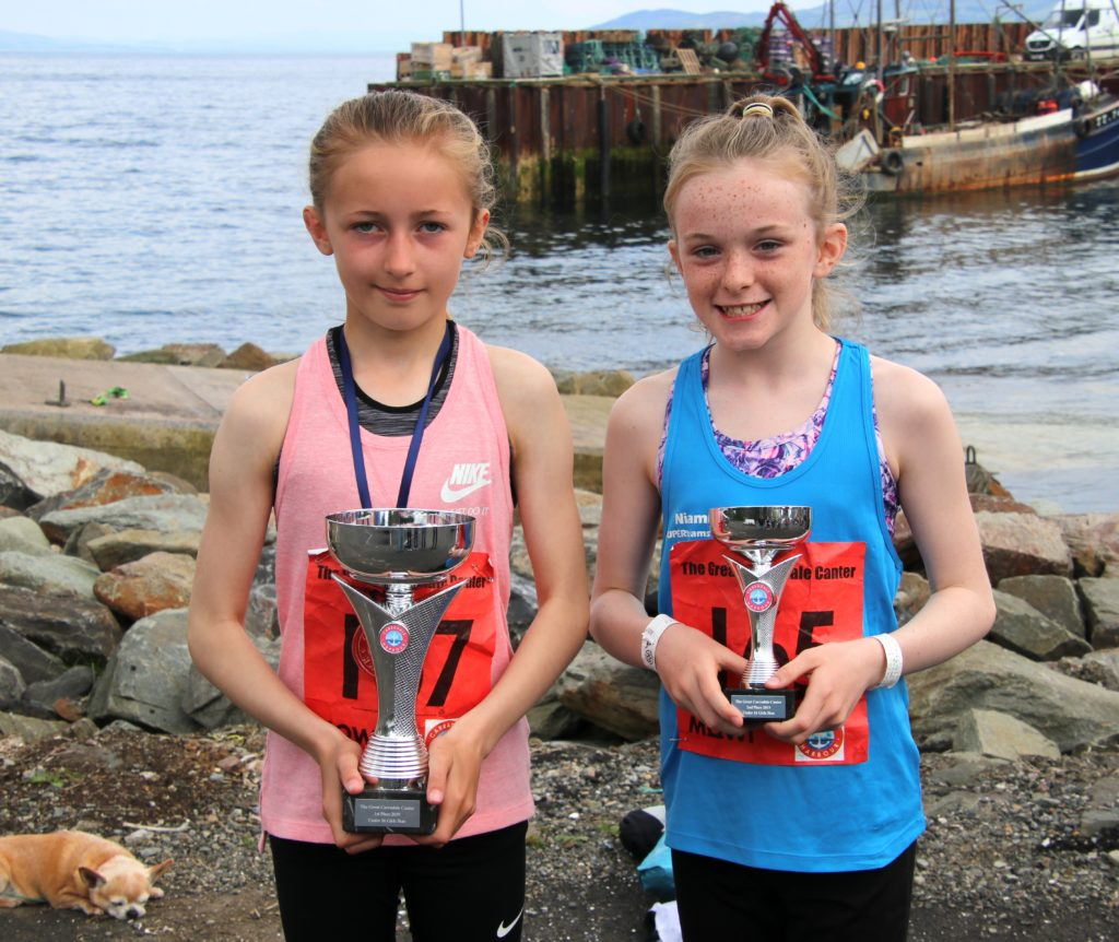 Junior girls' Great Carradale Canter champions