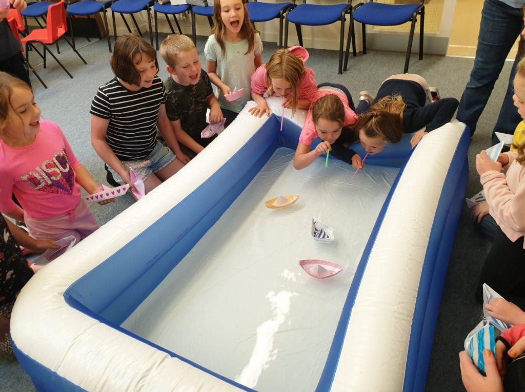 Church club transports children to the high seas