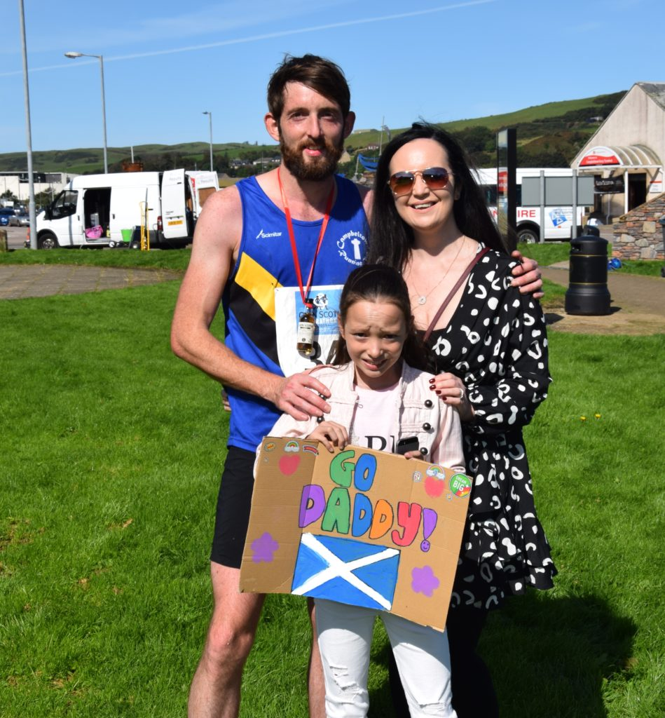 Family support for record-breaking runner Garry