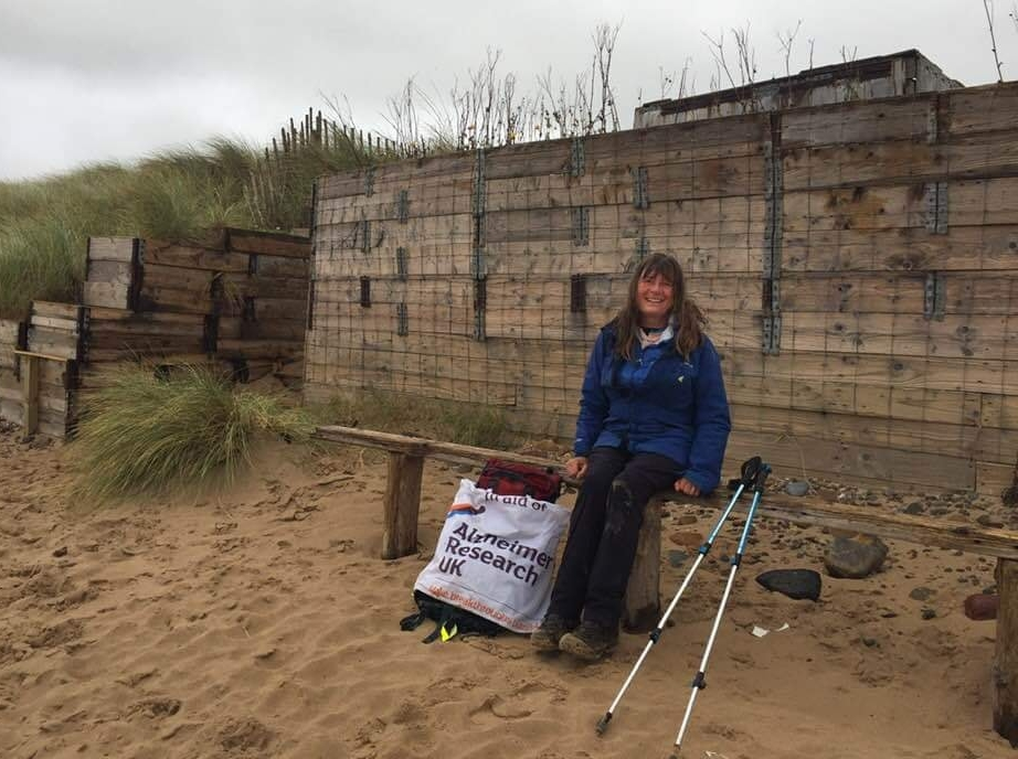 Fundraiser Karen Penny rolls through Kintyre