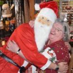 The Monday Social Club party organiser, Cathie Duncan, got an extra tight hug from Santa.