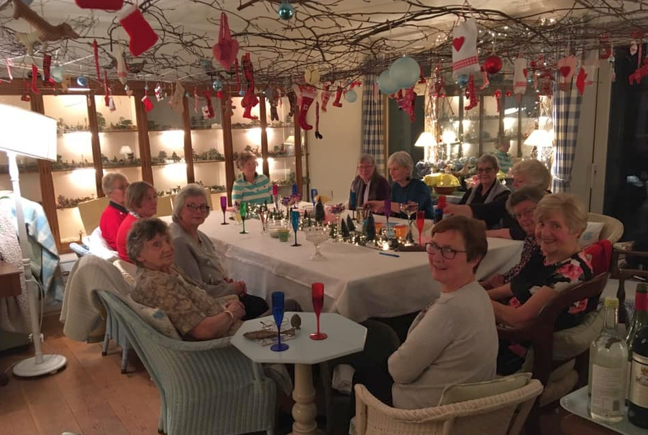 The ladies enjoyed a Christmas get-together in Jane Griffiths' 'beautifully descorated' home.