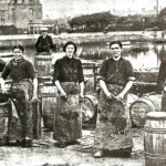 One of the oldest in the collection shows women working on the quay.