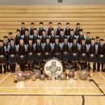 The band with silverware won last year. This photograph was taken by Stuart Andrew of Kintyre Photography. Kintyre Pipe Band Association thanks him for taking the photograph of the band and allowing it to be printed alongside this article.