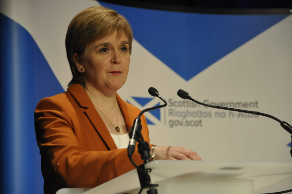 First Minister Nicola Sturgeon said the meeting would give 'food for thought' to take back to Edinburgh. 16_B35_cabinetquestiontime05