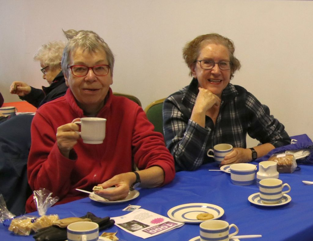 Margaret Mathieson and Betty McIntyre enjoyed a cuppa.